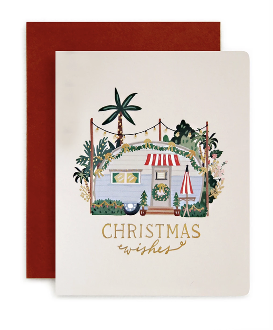 'Caravan Christmas Wishes' Greeting Card