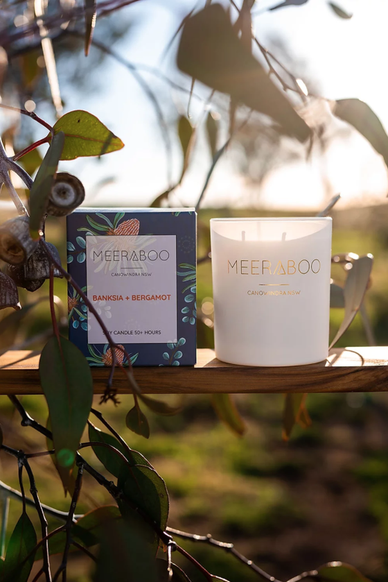 'Banksia & Bergamont' Boxed Soy Candles