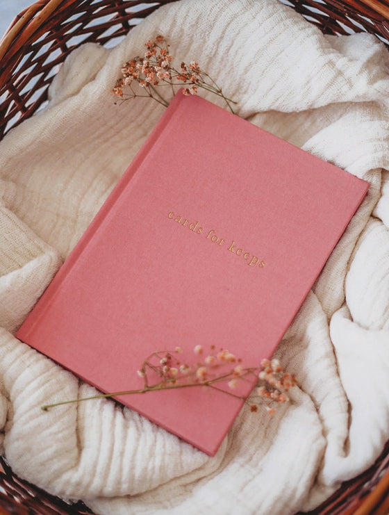 'Cards for Keeps' Greeting Card Collection Book in Blush Linen