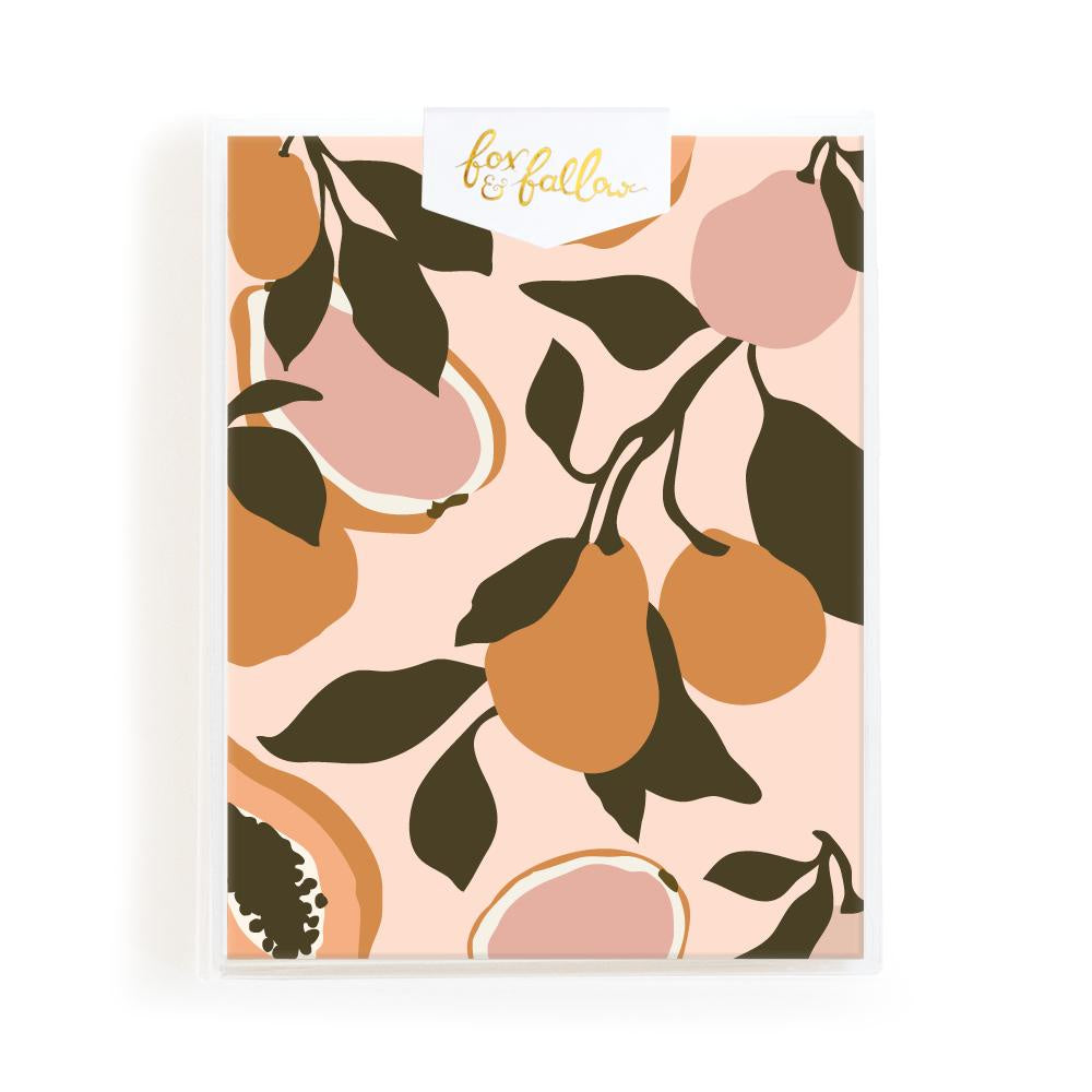 Blank 'Golden Fruits' Greeting Card Boxed Set