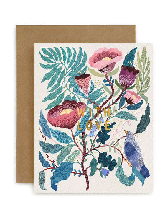 'With Love' Blomstra Greeting Card