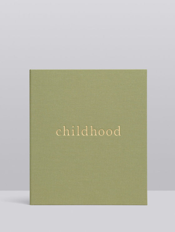 'Your Childhood Memories' Journal & Keepsake Box in Sage Linen