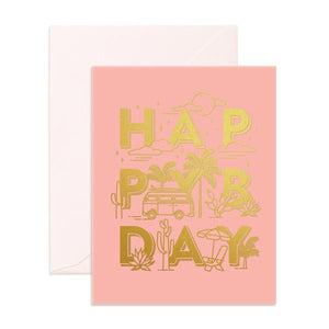 Load image into Gallery viewer, 'Wanderlust Happy Bday' Wanderlust Greeting Card