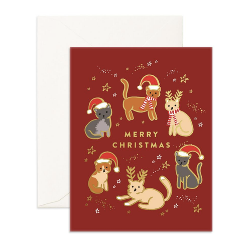 'Merry Christmas' Cats Greeting Card