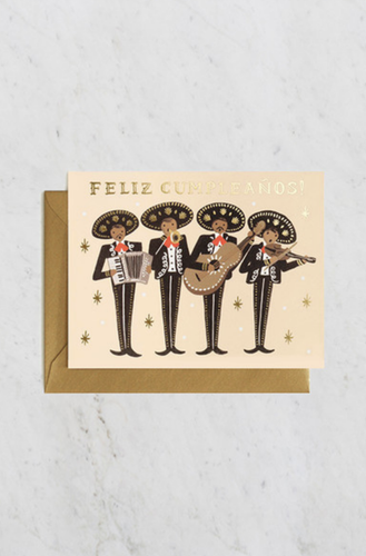'Feliz Cumpleanos' Mariachi Birthday Greeting Card