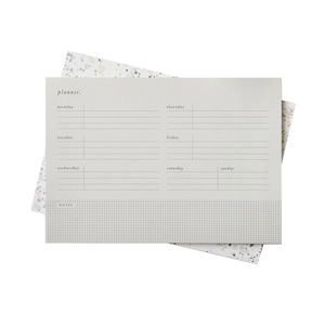 'Grey Grid' B5 Desk Planner