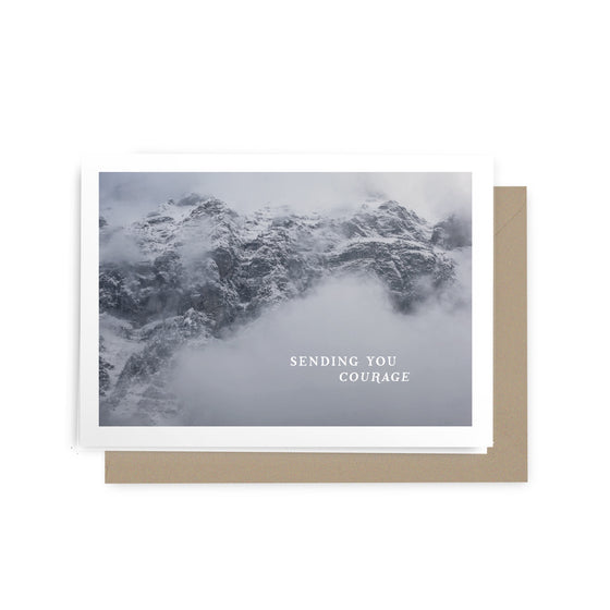 'Sending You Courage' Mountains Greeting Card