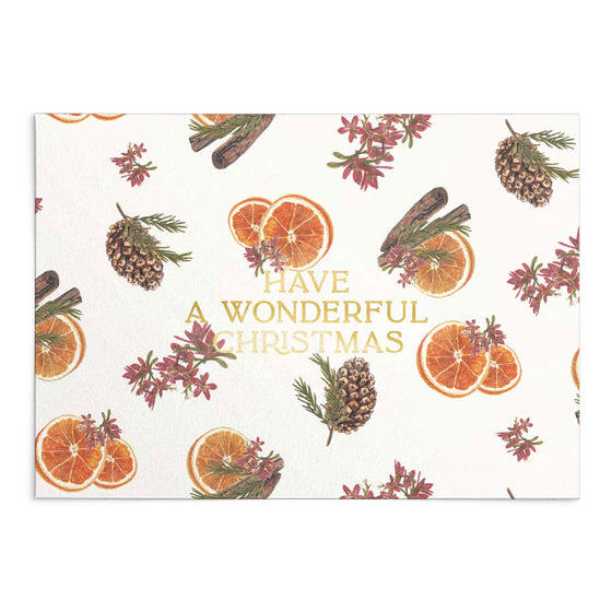 'Have a Wonderful Christmas' Mulled Wine Greeting Card (Shipping Mid Oct)