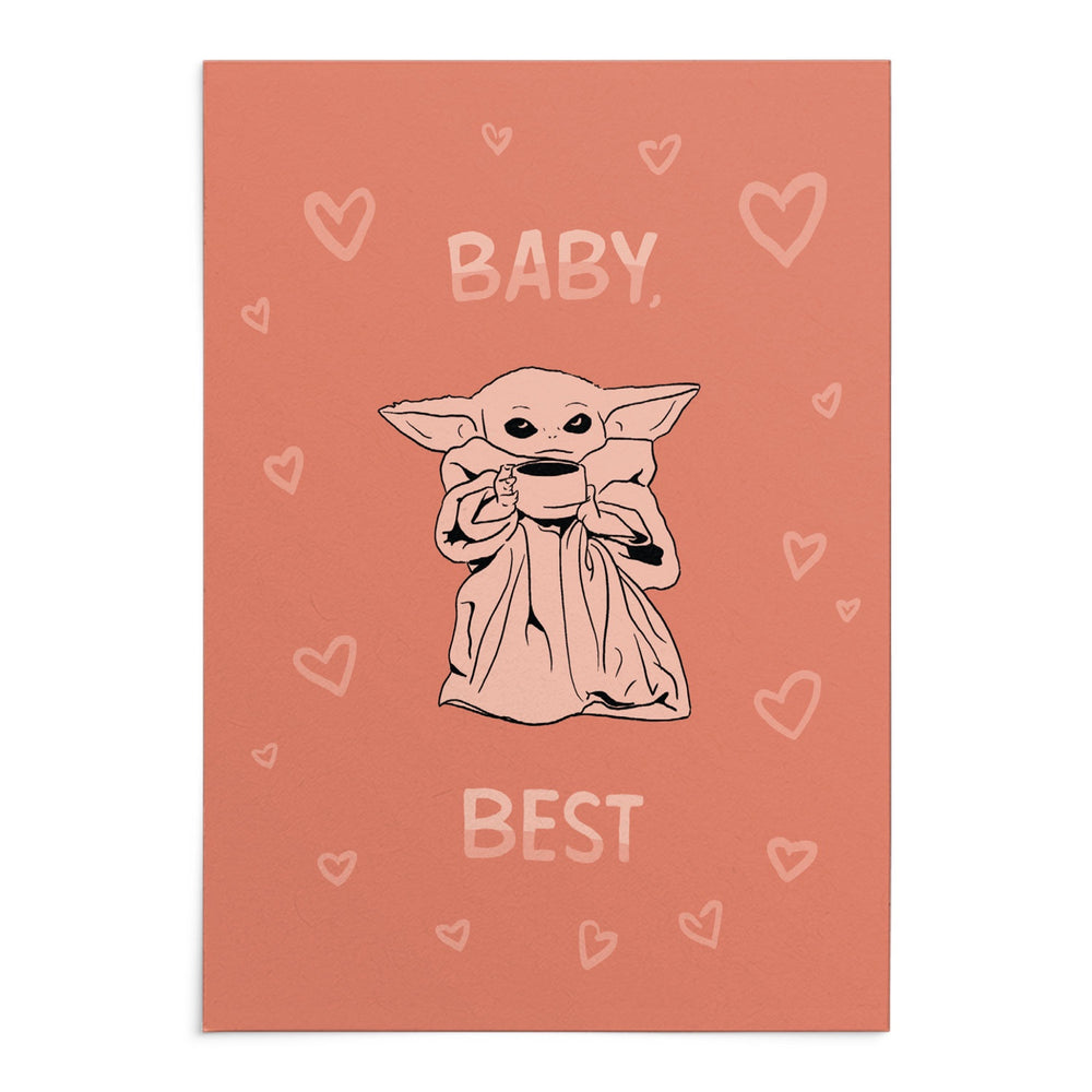 'Baby _____ Best' Greeting Card