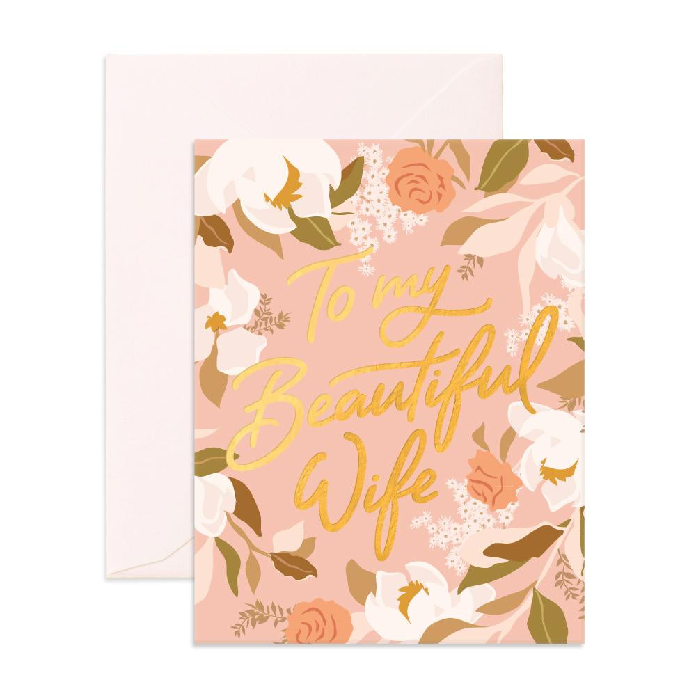 'Beautiful Wife' Greeting Card