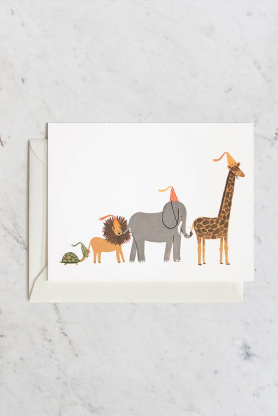 'Animal Party Parade' Greeting Card