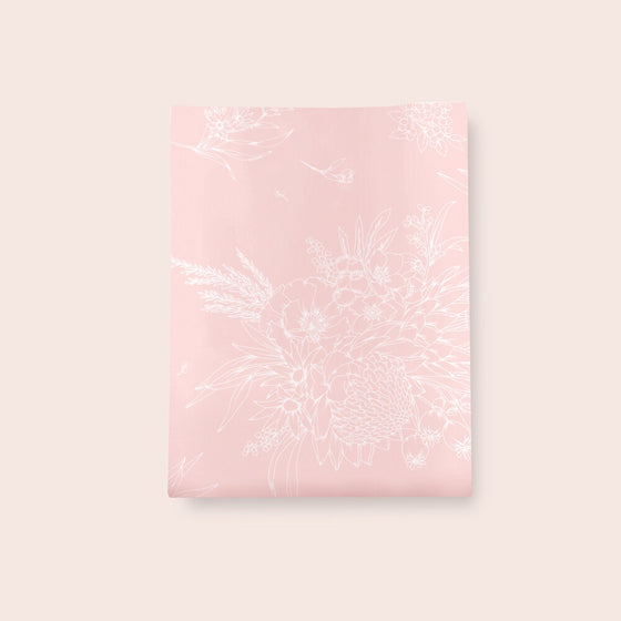 'King Protea' Pink Tissue Paper (4 Sheets)