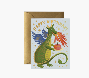 'Birthday Dragon' Greeting Card