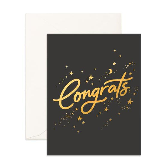 'Congrats' Stardust Greeting Card