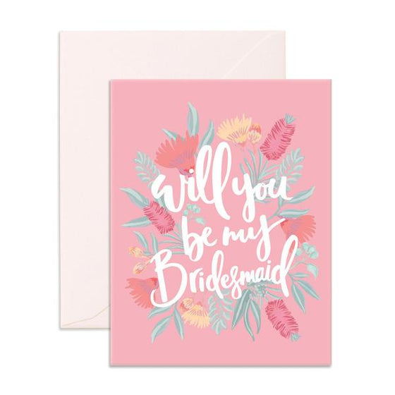 'Will You Be My Bridesmaid' Wildflower Greeting Card