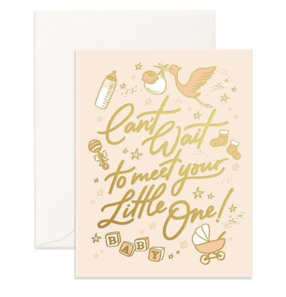 'Can't Wait To Meet Your Little One' Greeting Card