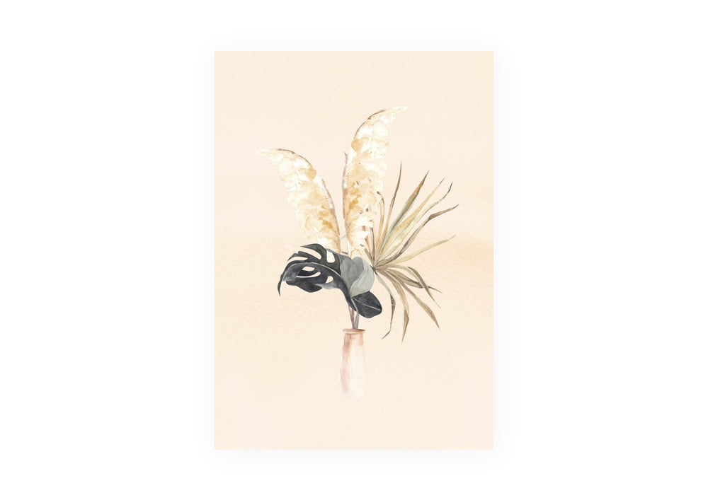 'Pampas Grass Arrangement' Poster (Size Options)