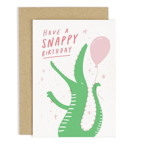 'Have A Snappy Birthday' Crocodile Greeting Card