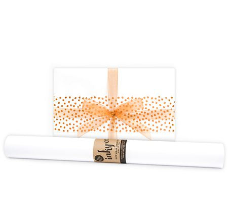 'Matte' White Gift Wrap (10m Roll)