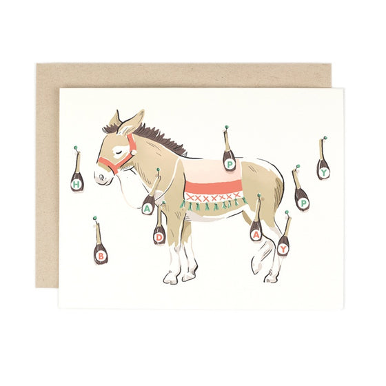 'Pin the Tail' Donkey Greeting Card