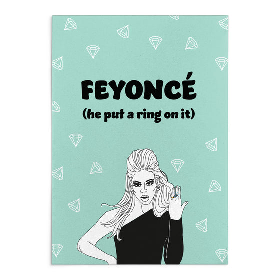 'Feyonce' Greeting Card
