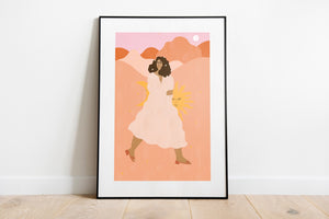 'Don't Look Back' Art Print