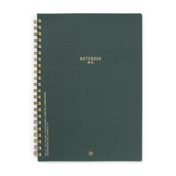 'Forest Green' Twin Wire Notebooks
