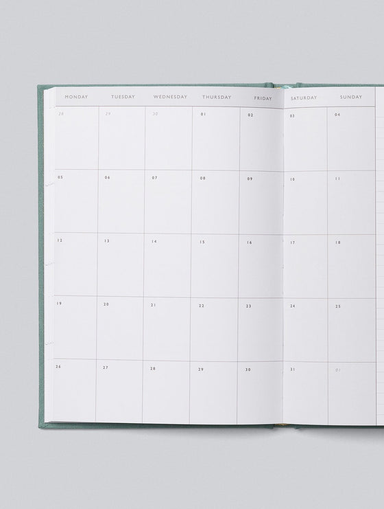Hardcover 2021 Weekly Planner in Teal Linen