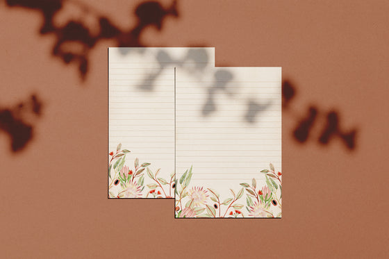 'Native Floral' Letter Writing Stationery Boxed Set