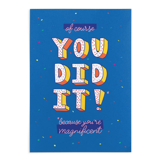 'You Did It!' Greeting Card