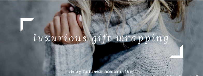 luxurious gift wrapping for the holidays in Sarnia, Canada
