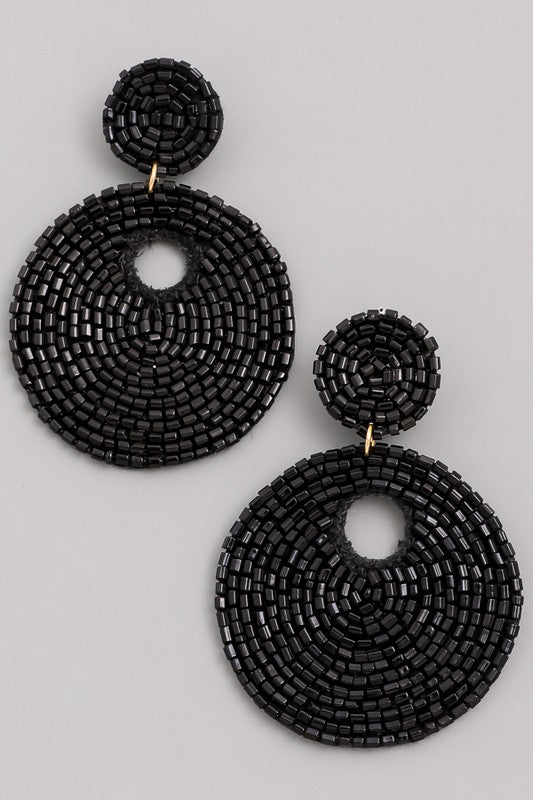 SOLD OUT / Bora Bora Beaded Statement Earrings