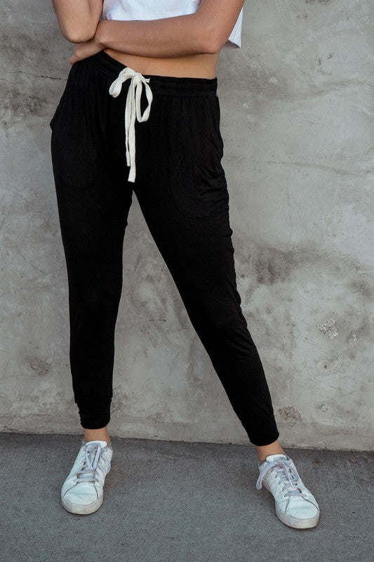 Perfect Pastime Knit Joggers in Black