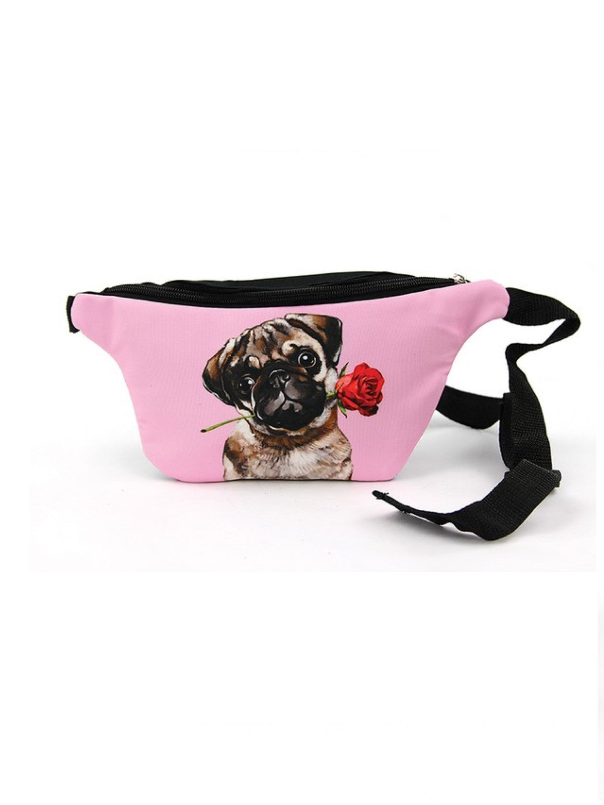 Vada Pink Pug Fanny Pack