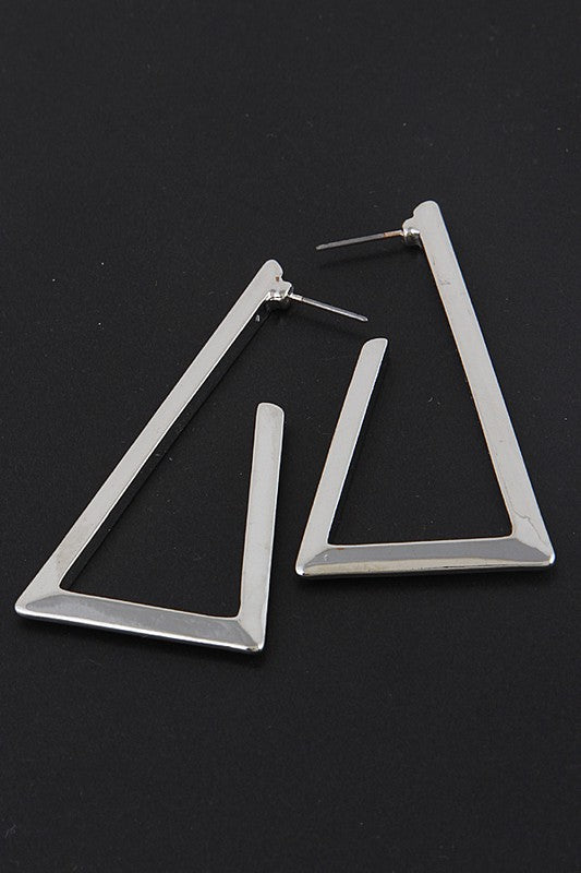 Bolded Triangle Hoop Earrings