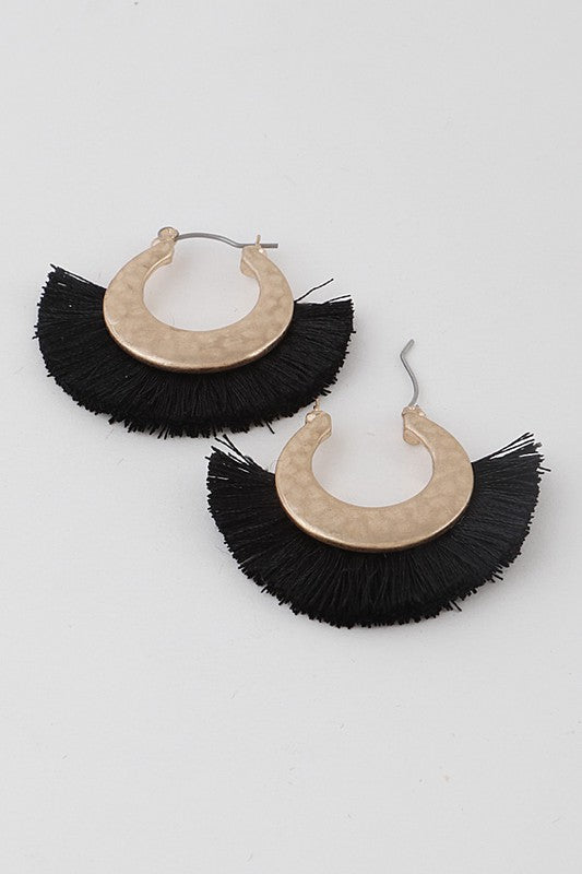 •sold out• I'm A Huge Fan Tassel Earrings