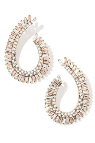 Clear As Day Drop Earrings
