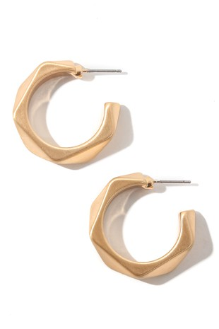 Golden Hour Hoop Earrings in Gold