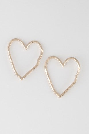 Steal Your Heart Framed Earrings in Gold