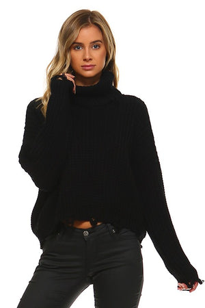 SOLD OUT / Lenora Turtle Neck Knitted Sweater