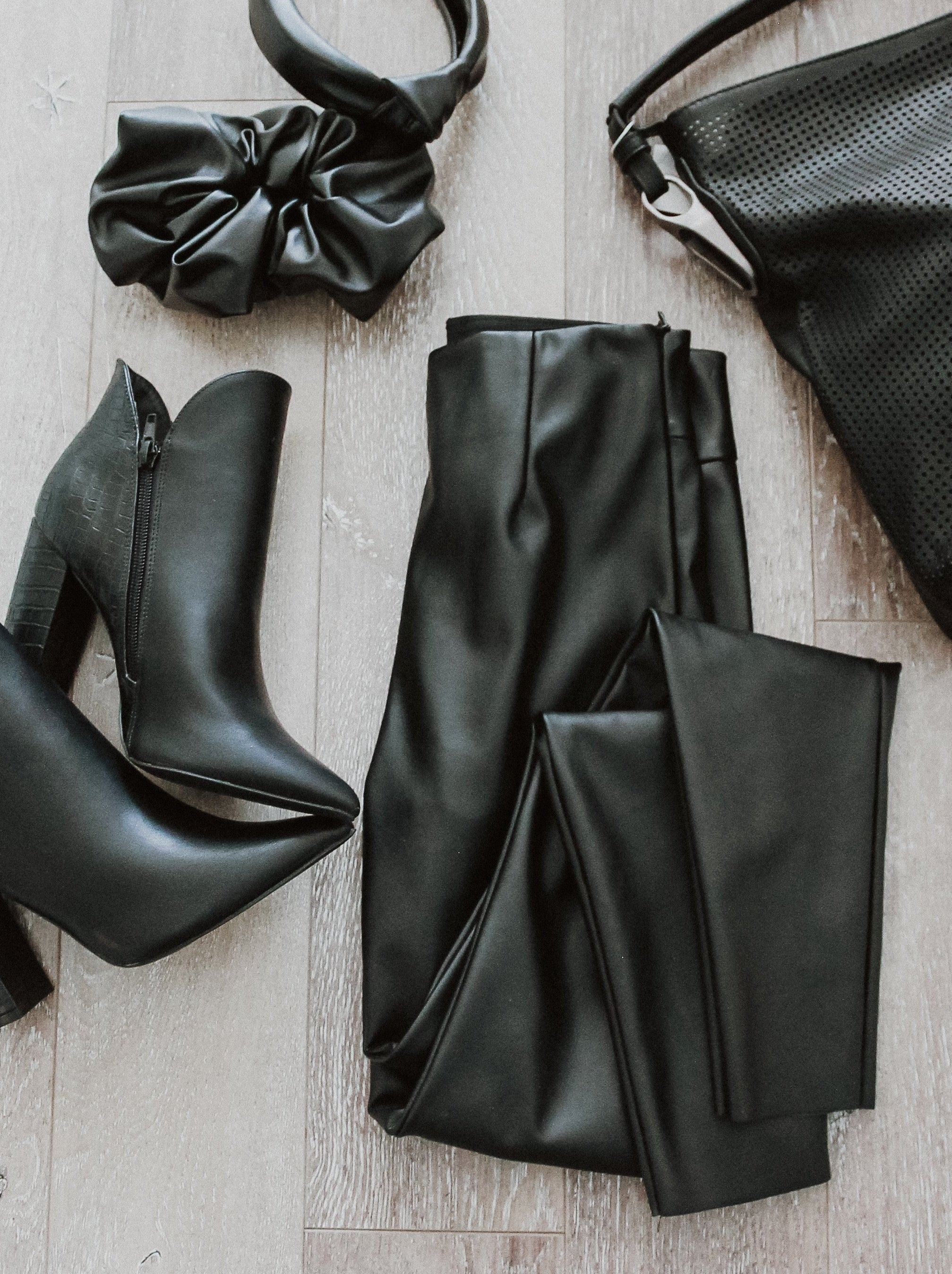 Into the Night Faux Leather High-Waist Leggings