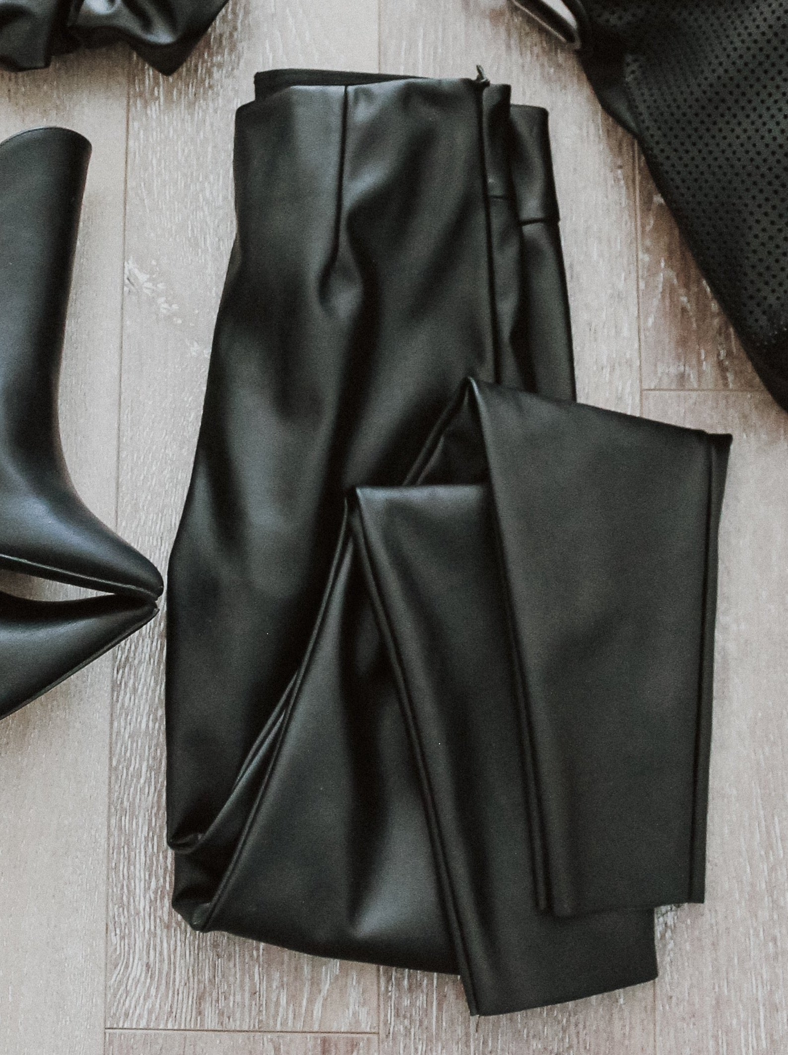 Into the Night Faux Leather High-Waist Leggings / FINAL SALE