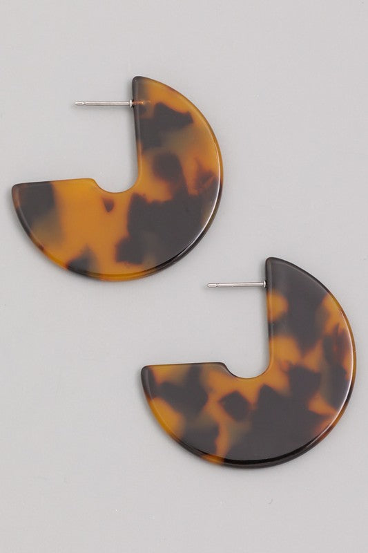 SOLD OUT / Out of Your Shell Tortoise Earrings