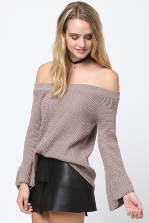 FLASH SALE / Abigail Off-the-Shoulder Knit Sweater