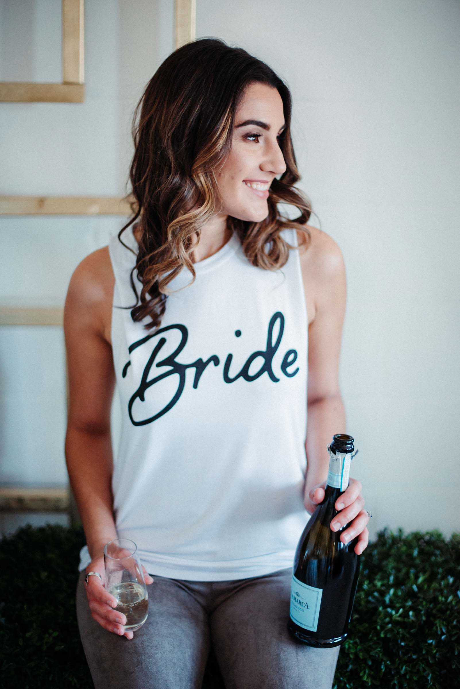 Bride Tank in White