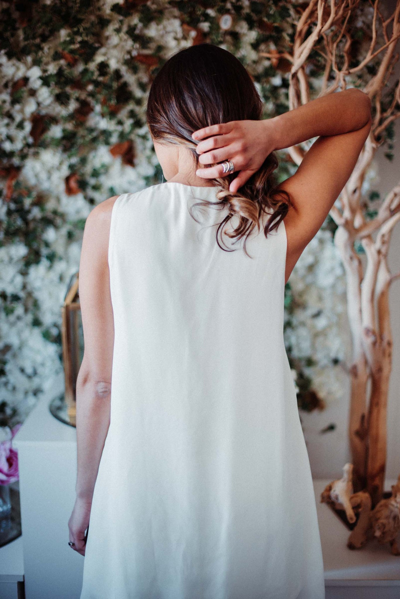 FLASH SALE / Ella Pleated Dress in Ivory