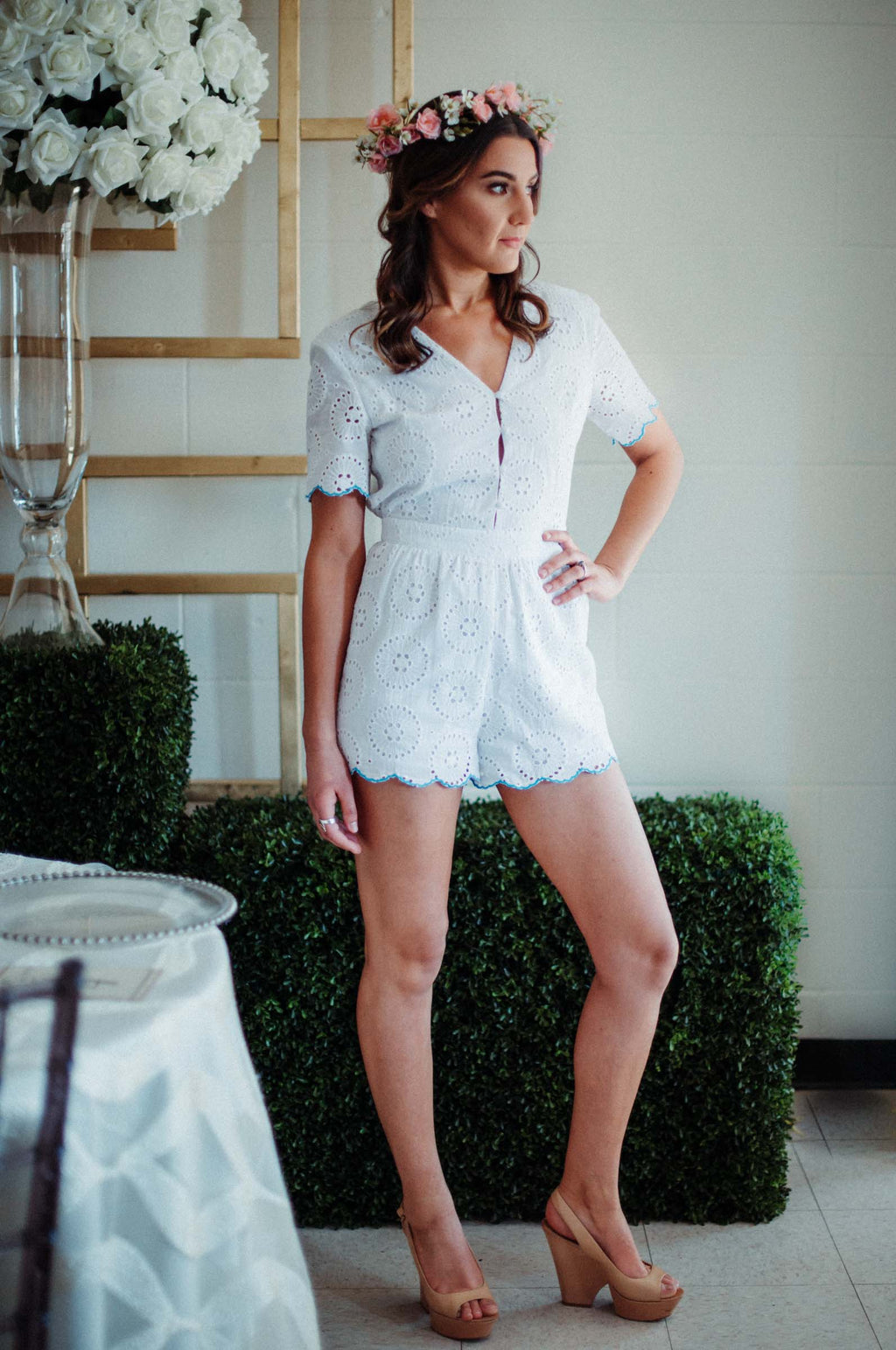 FLASH SALE / Poetic Button Up Romper
