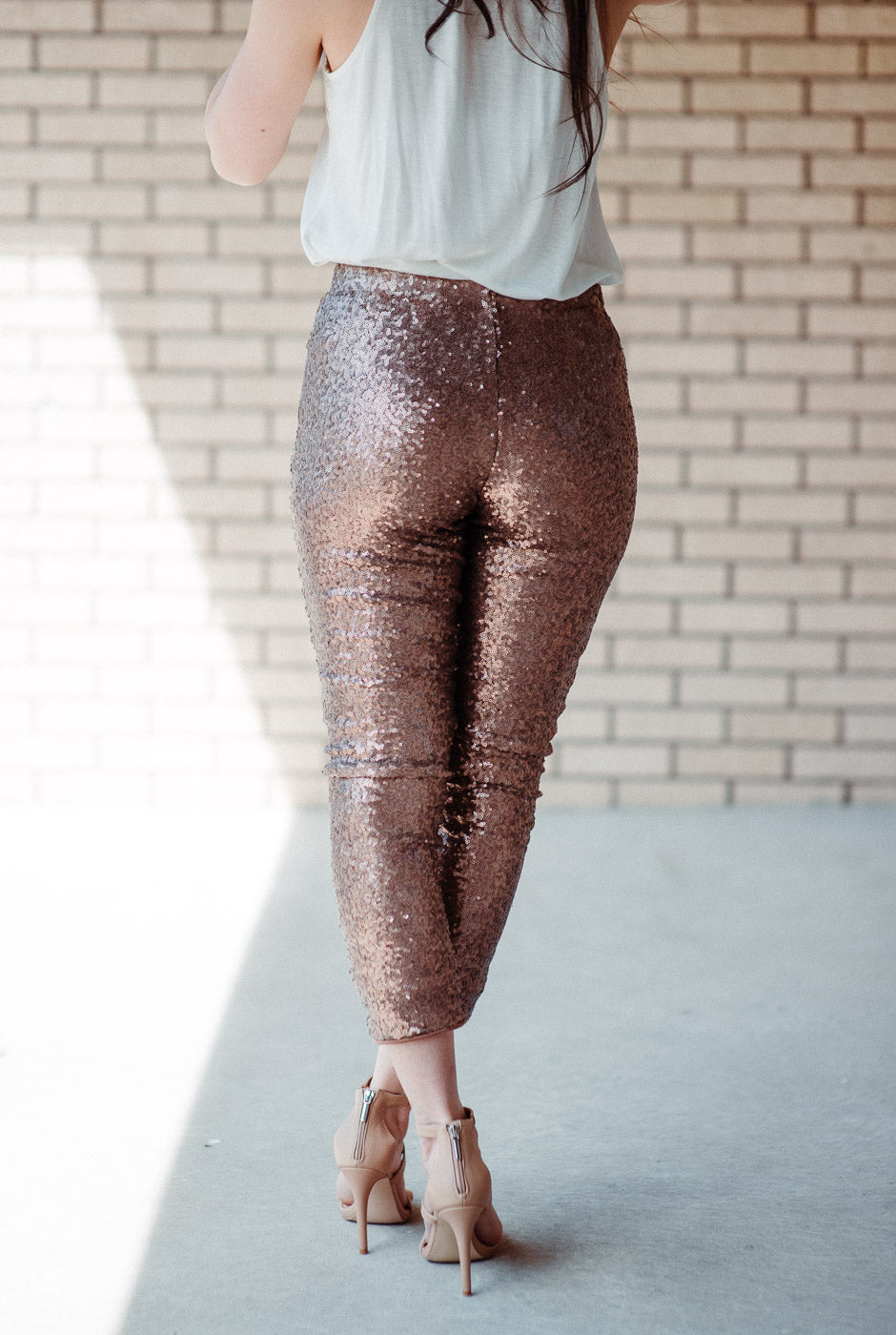 Shine On Sequin Pants in Gold