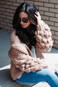 Main Event Knit Cardigan in Sand
