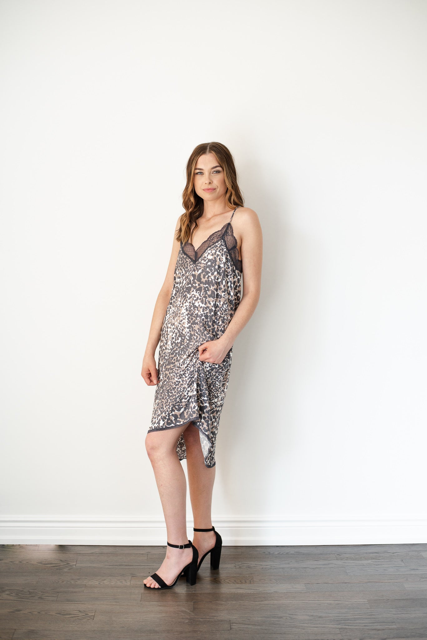 Wild Thing Leopard Print Slip Dress / FINAL SALE